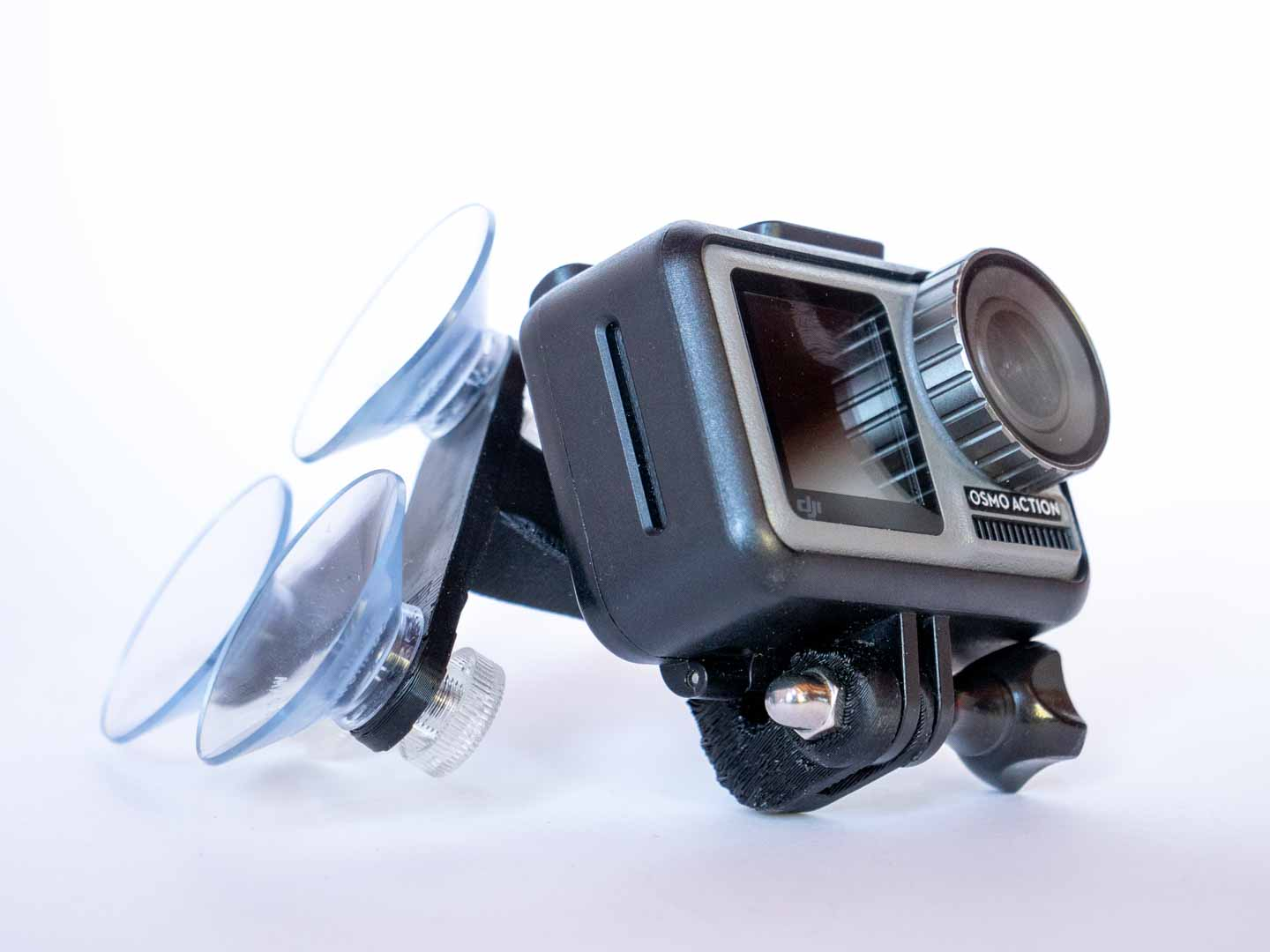 Action camera mount for glider canopy